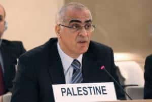 Palestinian delegate