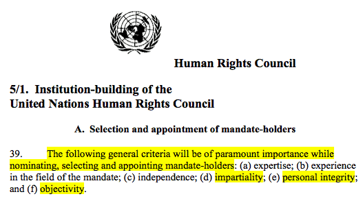hrc 5-1 on impartiality