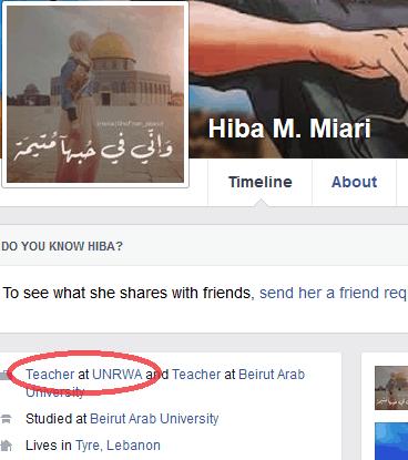 Hiba M. Miari - lien UNRWA