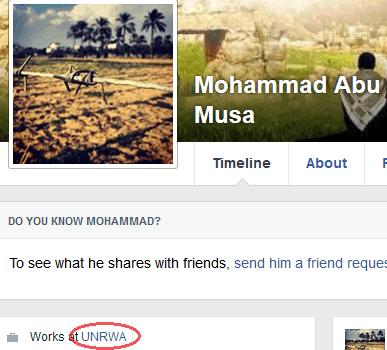 Mohammad Abu Musa - FB profile UNRWA link