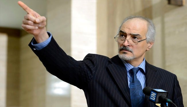 Syrian ambassador to the UN, Bashar Ja'afari