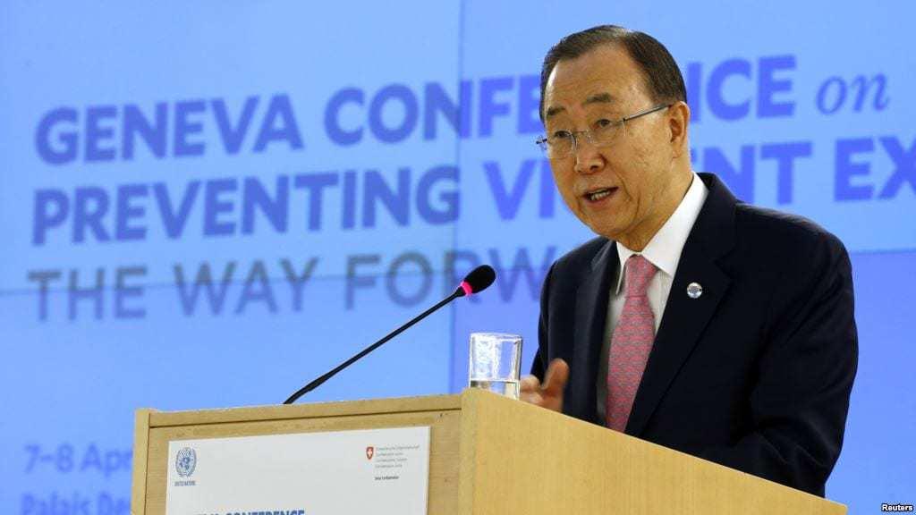 Ban at violent extremism conference