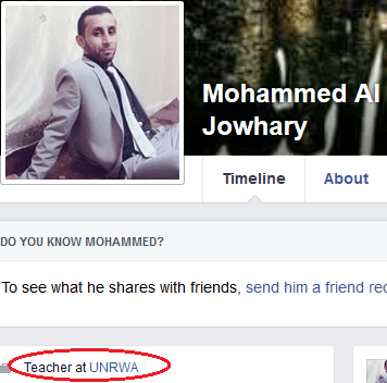 mohammed-al-jowhary-fb-profile-unrwa-link1