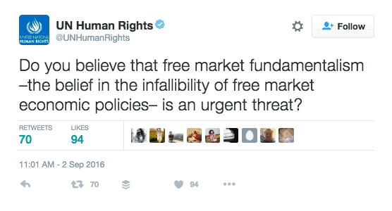 anti-free market tweet